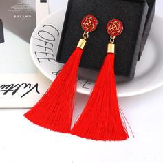 Alloy Rhinestones With Tassels Women's Earrings