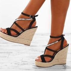 PU Wedge Heel Sandals Platform Wedges Peep Toe Heels With Others shoes