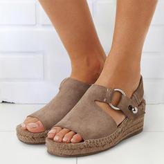 Femmes PU Talon compensé Sandales Compensée À bout ouvert avec Autres chaussures