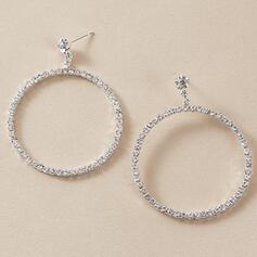 Shining Alloy With Rhinestones Women's Ladies' Earrings