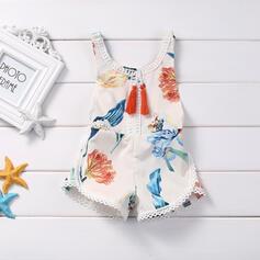bébé Dessin Animé Imprimé Coton Combinaison