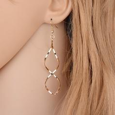 Simple Alliage Dames Boucles d'oreilles
