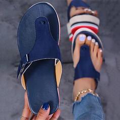 Women's PU Wedge Heel Sandals Platform Wedges Peep Toe Flip-Flops Slippers With Buckle Solid Color shoes