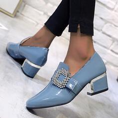 Femmes PU Talon bottier Bout pointu avec Strass chaussures