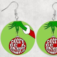 Le plus chaud Noël Grinch Bois Femmes Boucles d'oreilles 2 PCS