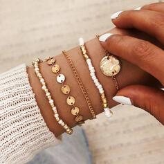 Style Vintage En couches Alliage Perles avec Pièce de monnaie Bracelets (Lot de 5)