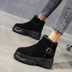 Women's Suede Flat Heel With Buckle shoes