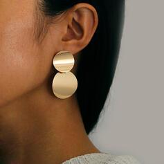 Brillant Attrayant Alliage Boucles d'oreilles 2 PCS
