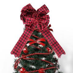 Noël joyeux Noël Tissu Topper d'arbre de Noël