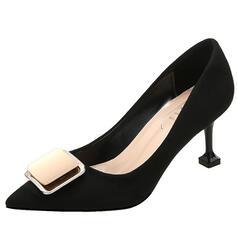 Femmes Suède Talon stiletto Escarpins Bout pointu avec Bowknot chaussures