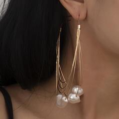 À la mode Sexy Style Vintage Style Classique Alliage De faux pearl avec Perle d'imitation Femmes Dames Hommes Couples' Boucles d'oreilles 2 PCS