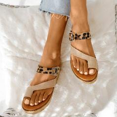 Femmes Similicuir Talon plat Sandales avec Semelle chaussures