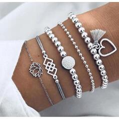 élégant Charme La Saint-Valentin Alliage Femmes Dames Bracelets (Ensemble de 5 paires)