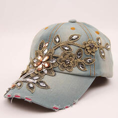 Women's Elegant/Charming/Artistic Faux Leather With Flax Baseball Caps