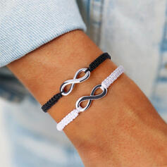 Simple Infini Alliage Corde tressée Bracelets