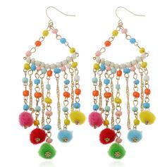 Coloré Bohème Alliage Perles avec Glands Boucles d'oreilles 2 PCS