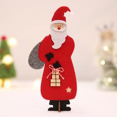 Noël joyeux Noël Père Noël Dessus de la table En bois Coton Ornements de noël