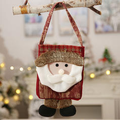 Noël joyeux Noël Renne Père Noël Pendaison Tissu Sacs Apple Bas de Noël Sacs à bonbons