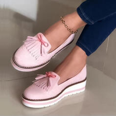 Femmes Suède Talon plat Chaussures plates avec Tassel Autres chaussures