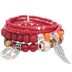 élégant Alliage Résine avec Résine Unisexe Bracelets de mode (Vendu dans une seule pièce)