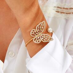 Brillant Simple Papillon Alliage avec Strass Bracelets