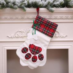 Noël joyeux Noël Pendaison Sac cadeau Tissu Bas de Noël Sacs à bonbons
