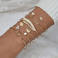 Simple Attrayant Alliage avec Feather Parures Bracelets (Lot de 6)
