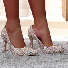 Women's Flying Weave Stiletto Heel Pumps Pointed Toe With Splice Color shoes