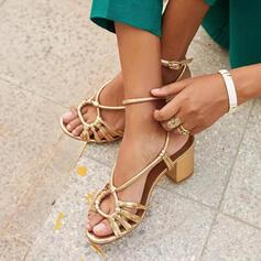 Femmes PU Talon bottier Sandales À bout ouvert Escarpins chaussures