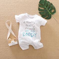 bébé Letter Imprimé Coton Une pièce