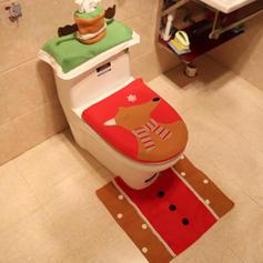 Noël joyeux Noël Tissu Couverture de siège de toilette