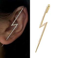 Brillant Simple Alliage Strass avec Lightning Femmes Boucles d'oreilles