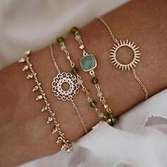 Bohème En couches Alliage Bracelets 5 PCS
