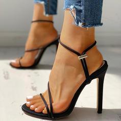 Femmes Tissu Talon stiletto Sandales Escarpins À bout ouvert avec Autres chaussures