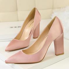 Femmes Satiné Talon bottier Escarpins Bout fermé chaussures