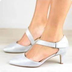 Femmes PU Talon bas Sandales avec Velcro chaussures