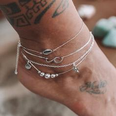 étoile de mer Le plus chaud Shell en forme Alliage Bijoux de plage Bracelets de cheville (Lot de 4)