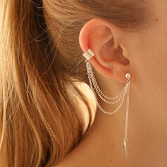 Link & Chain Alloy With Tassels Earrings
