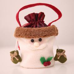 Noël joyeux Noël Bonhomme de neige Renne Père Noël Pendaison Sac cadeau Tissu non tissé Sacs Apple Sacs à bonbons