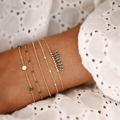 Simple Bohème En couches Alliage avec Perles Bracelets 5 PCS