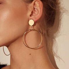 Jolie Rond Alliage Boucles d'oreilles (Lot de 2)