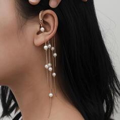À la mode Sexy Style Vintage Style Classique Alliage De faux pearl avec Perle d'imitation Femmes Dames Boucles d'oreilles 2 PCS