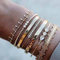 Alliage Parures Bracelets (Ensemble de 6 paires)