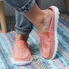 Femmes PU Talon plat Chaussures plates avec Élastique chaussures