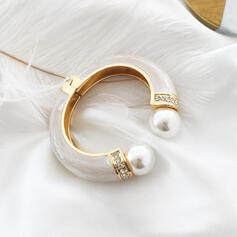 Fashionable Alloy Imitation Pearls With Rhinestone Women's Ladies' Bracelets