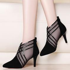 Femmes PU Talon stiletto Escarpins avec Lanière tressé chaussures