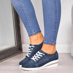 Women's PU With Lace-up shoes