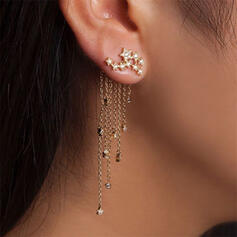 Brillant Alliage Boucles d'oreilles