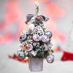 Noël joyeux Noël Bonhomme de neige Renne Père Noël Pendaison Métal Ornements suspendus Ornements de noël