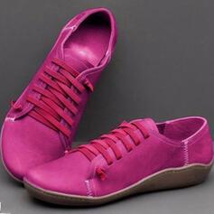 Femmes PU Talon plat Chaussures plates avec Couleur unie chaussures
